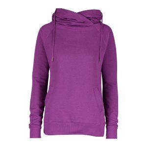 121 Ladies Funnel Neck Hooded Sweatshirt